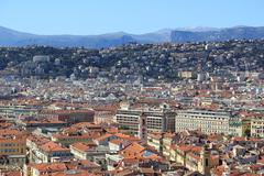Panoramic view of Nice, Cote d'Azur, France - stock photo