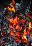 Live coals Stock Photos