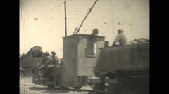 Vintage 16mm film, 1928, South Africa,  diamond mine ore train Stock Footage