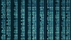 Analytical data processing results in electronic board, computer animation - stock footage
