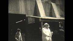 Vintage 16mm film, 1928, South Africa,  diamond mine men execs Stock Footage