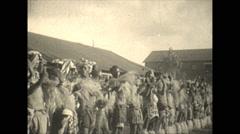 Vintage 16mm film, 1928, South Africa, zulu dancers #1 Stock Footage