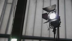 Adjustment Of Lighting Device During Filming - stock footage