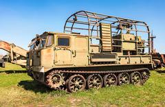 Crawler-transporter truck at the technical museum in Togliatti, Russia - stock photo
