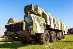 Heavy army wheeled tractor at the technical museum in Togliatti, Russia Kuvituskuvat