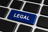 Stock Photo of legal button on keyboard
