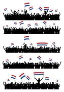 Cheering or Protesting Crowd Netherlands - stock illustration