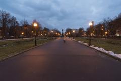 Nizhny Novgorod, Russia - November 02. 2015. Gorky Square at night - stock photo