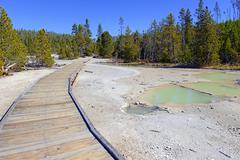 Geothermal activity at Yellowstone National Park, Wyoming, USA Stock Photos