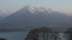 Establishing Shot Swiss Alps Stock Footage