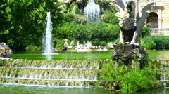 View from park de la ciutadella, barcelona, spain in summer day Stock Footage
