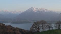 Stock Video Footage of Establishing Shot Swiss Alps
