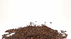 Scattering cofee beans - stock footage