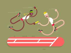 Relay athletics design - stock illustration