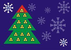 Tree house corporate postcard Stock Illustration