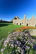 Dunnottar Castle with blue sky in - Stonehaven, Aberdeen, Scotland UK Stock Photos