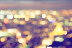 Bokeh, blur of a big city lights at night. Nightlife background Stock Photos
