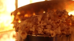 Making popcorn in the cinema - machine, commercial popcorn machine. Stock Footage