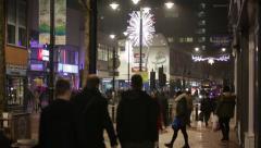English Chirstmas street Stock Footage