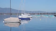 Stock Video Footage of Sailboats on Lake