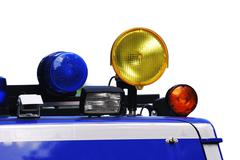 Warning lights on a rescue vehicle Stock Photos