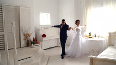 Bride and groom dancing Stock Footage