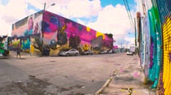 Street Wall Art Wynwood 4K Stock Footage