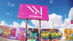 Wynwood Sign in Miami Florida 2015 Shot in 4k Stock Footage