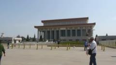 Mausoleum of Mao Zedong - stock footage