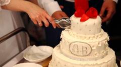white multi level wedding cake - stock footage