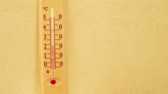 The temperature on the thermometer moves - stock footage