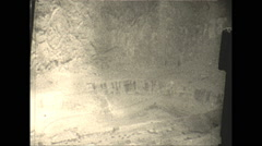 Vintage 16mm film, 1928, South Africa, Diamond mine looking down into pit Stock Footage