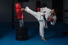Taekwondo Fighter Pose Stock Photos