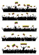 Cheering or Protesting Crowd Lithuania - stock illustration