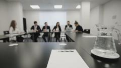 Business team at a meeting, documents and ideas Stock Footage
