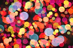 Abstract colorful light bokeh Stock Photos
