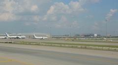 Airplanes in Suvarnabhumi airport Stock Footage