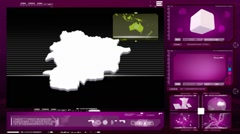 Stock Video Footage of Andorra - computer monitor - pink 00