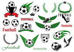 Football or soccer sport game design elements Piirros