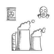Stock Illustration of Industrial pollution and destruction of environment