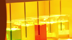 Colorful chemicals liquid mixing Stock Footage