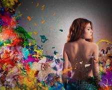 Floral femininity - stock photo