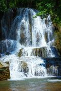 Waterfalls cascade on Slovak republic Stock Photos