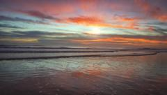 Early Morning Sunrise at the Beach Stock Footage