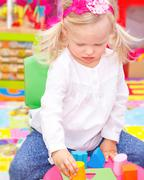 Stock Photo of Baby girl in daycare