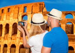 Honeymoon vacation in Rome Stock Photos