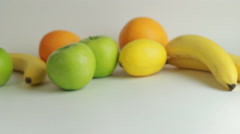 Delicious citrus fruit on a white background Stock Footage