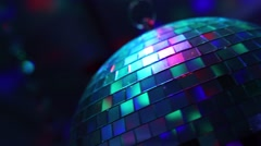 Disco Mirror Ball & Lights Reflecting Stock Footage
