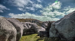 Castle Hill Time-lapse  in New Zealand Stock Footage