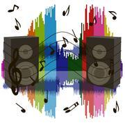 Background sound waves Stock Illustration